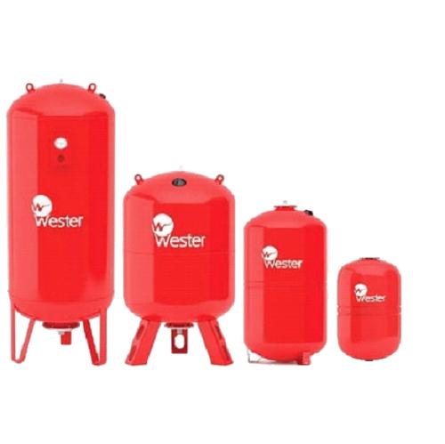 Расширительный бак на систему отопления Wester WRV 150 (красный)