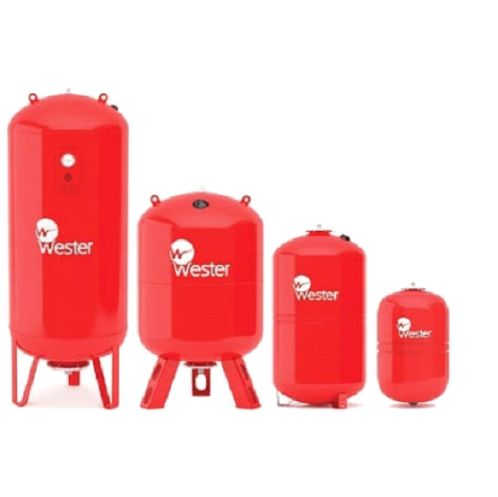 Расширительный бак на систему отопления Wester WRV 300 (красный)