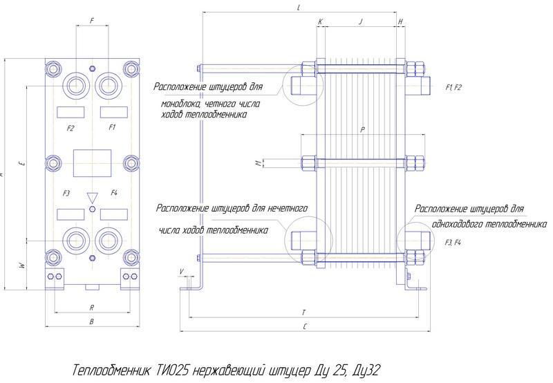 Теплообменник пластинчатый для ГВС ТИО25